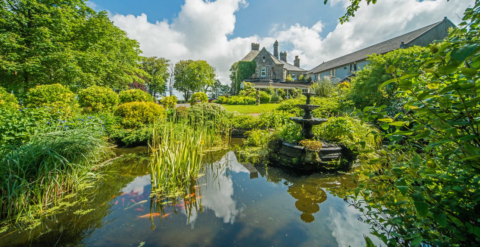 hotel-and-pond